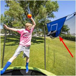 Heavy Duty Trampoline Basketball Hoop Jump Slammer Games Wit