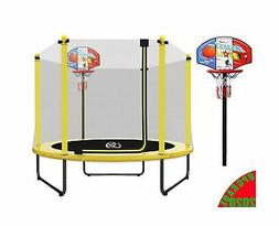 LANGXUN 5Feet Outdoor & Indoor Trampoline with Enclosure net
