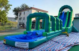 99x99x30 Commercial Inflatable Maze Wall Tower Slide Obstacl