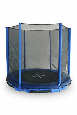 Super Jumper Inground 10' Round Trampoline with Safety Enclo