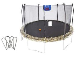 Skywalker 15-Feet Jump N' Dunk Trampoline with Safety Enclos