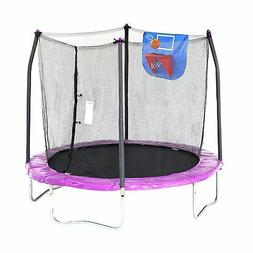 Skywalker Trampolines 8-Feet Jump N Dunk Trampoline with Saf