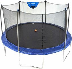 Skywalker Trampolines 15-Feet Jump N' Dunk Trampoline with S