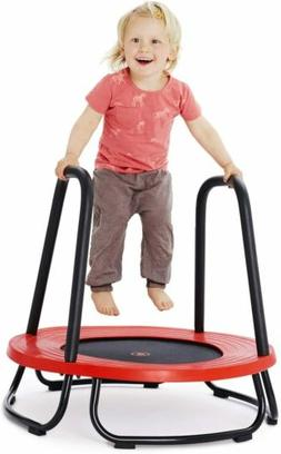 Kids Toddler Small Indoor/Outdoor Trampoline Toy w/ Safety H