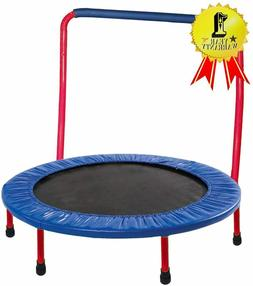 Kids Trampoline - 36 inch, with Handle Bar, Safety, Portable