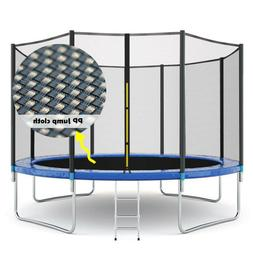 Kids Trampoline Combo Bounce Jump Safety Enclosure Net w/Spr