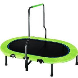 Kids Trampoline Outdoor Jumping Table Fitness W/Handrail and