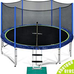 Zupapa Kids Trampoline, TUV Approved Trampoline 10ft, with S