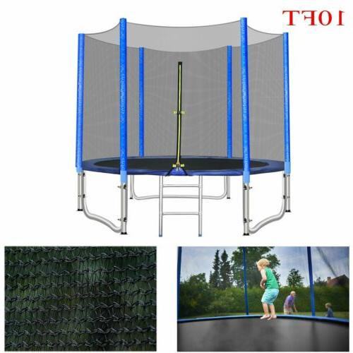 10ft round trampoline with safety net enclosure