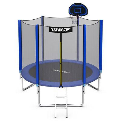 Giantex 10' Trampoline Combo Bounce Jump Safety Enclosure Ne