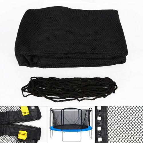 Round Bounce Trampoline Net Safety Enclosure for 12 14 15 Ft