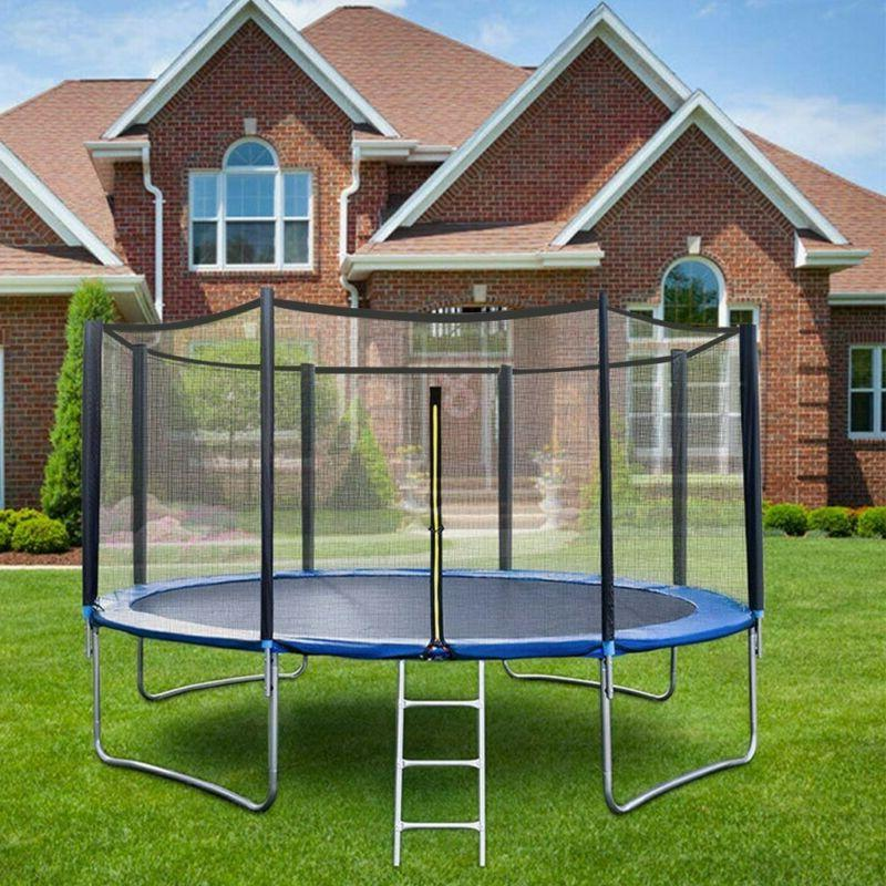 Youth Jumping Round 12 FT Exercise W/ Safety Enclosure Combo Kids
