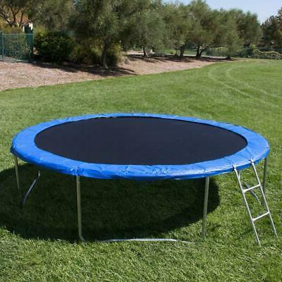 12FT Trampoline Safety Jump Net w/Spring Pad&Ladder