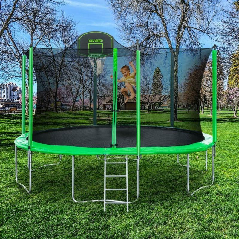 Merax 14 Trampoline Basketball Hoop And