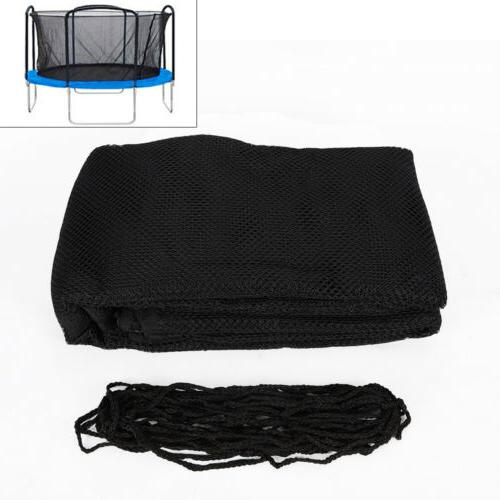 14FT Round Trampoline Bounce Jump Safety Enclosure Net + Fix