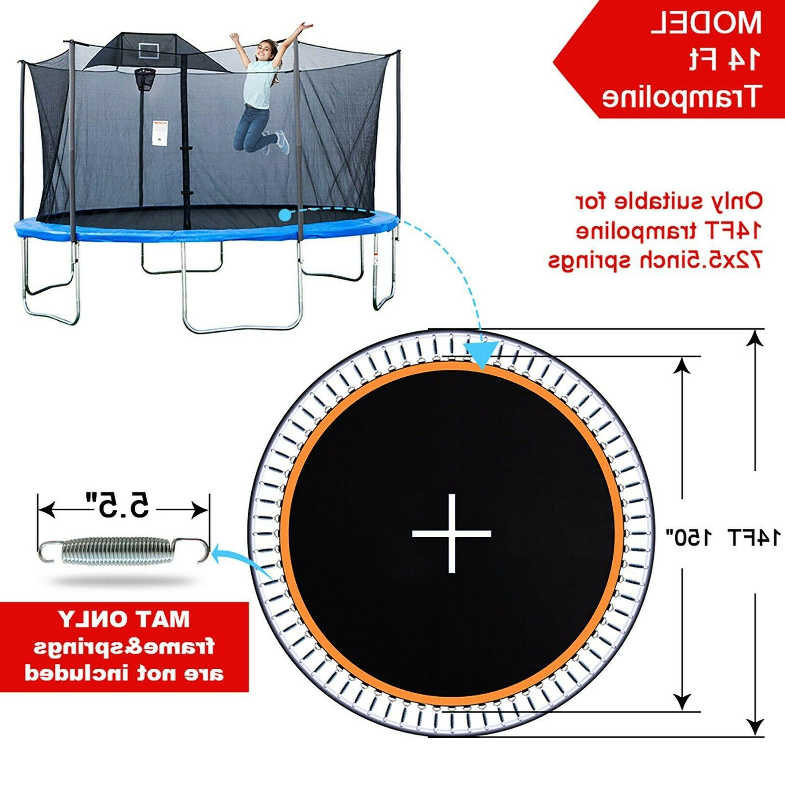 """14ft 150"""" Jumping Surface with V-Ring Replacement Spring Spare"""