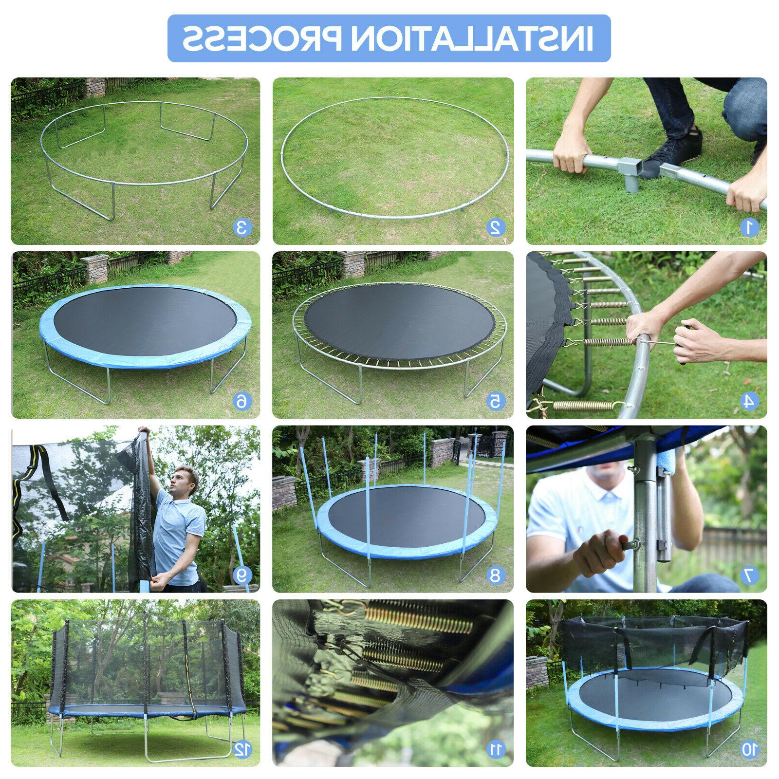 14FT with Safety Enclosure Net, and Ladder,