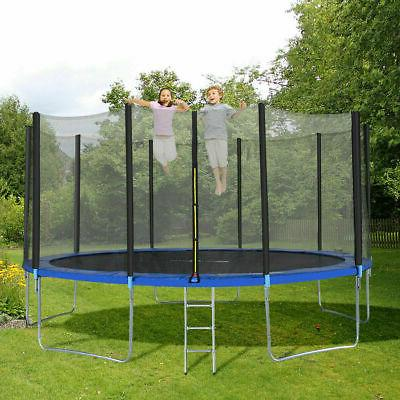 15FT All-weather Bounce Jump Safety Enclosure Net Durable