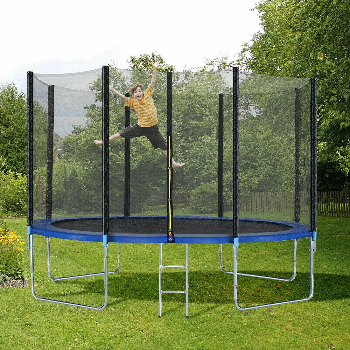 1PC 12FT Bounce Jump Safety Net w/Spring Pad Lad Funs