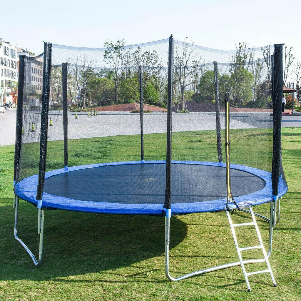 1pc 12ft trampoline combo bounce jump safety