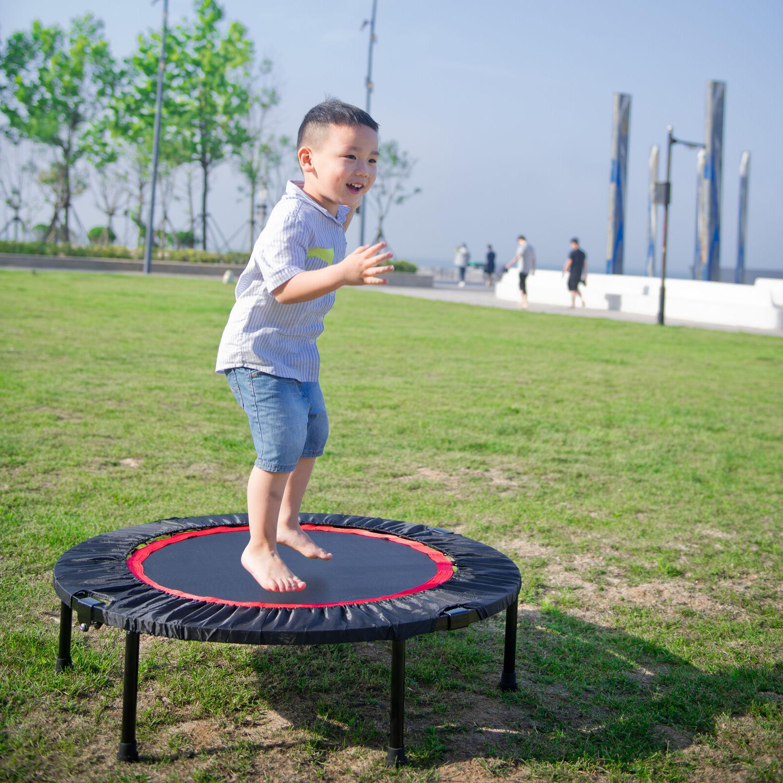 Indoor Fitness Rebounder with Safety Pad