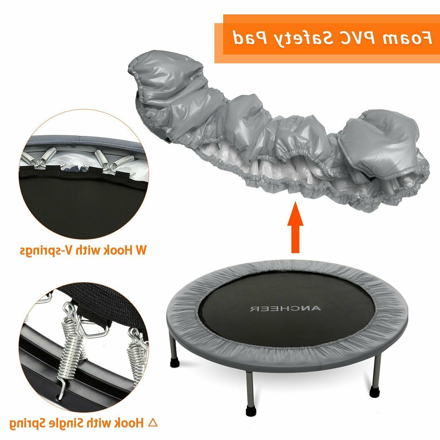 40'' Mini Exercise Trampoline for Adults Kids Foldable Indoo