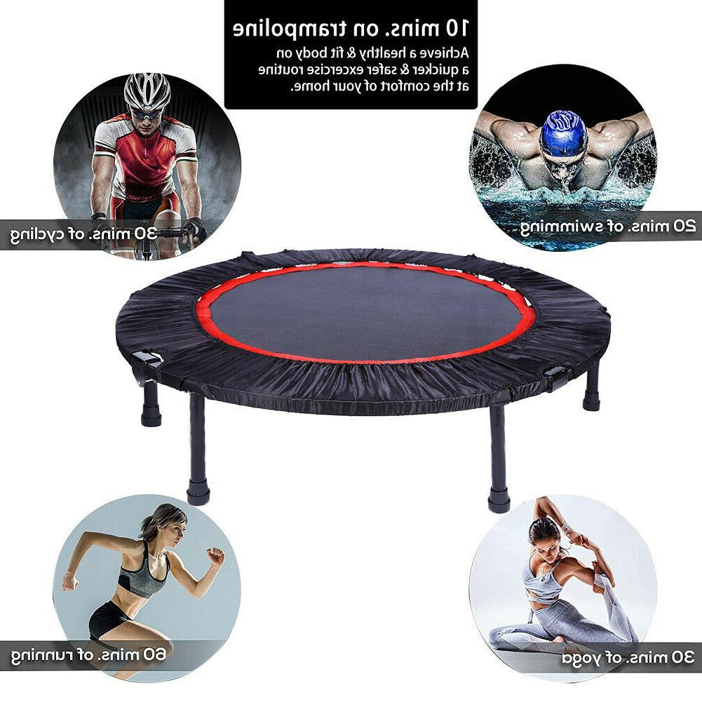40'' Mini Fitness Trampoline Home Gym Rebounder for Adults
