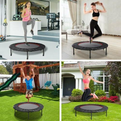 Foldable 40'' Fitness Trampoline Home Gym Fun Exercise Rebou