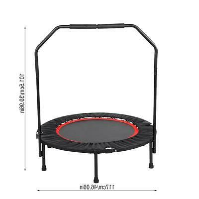 40'' Mini Rebounder Exercise Gym Handrail Indoor