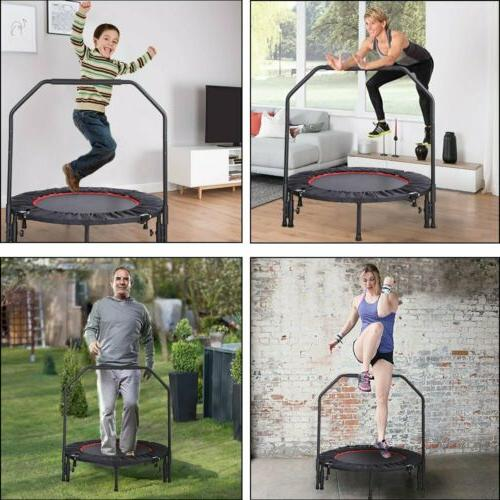 "40"" Adjustable Handrail Workout Mini Rebounder"