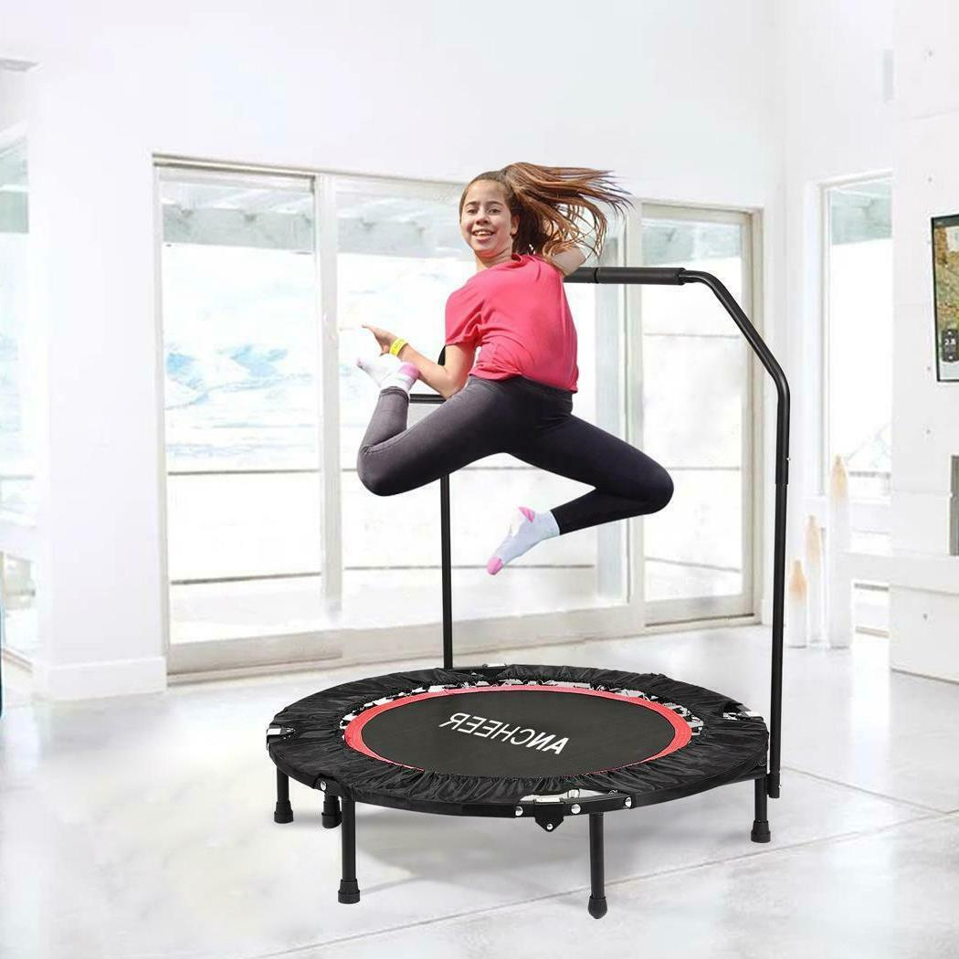 Ancheer Fitness Workout Rebounder Adjustable Handrail