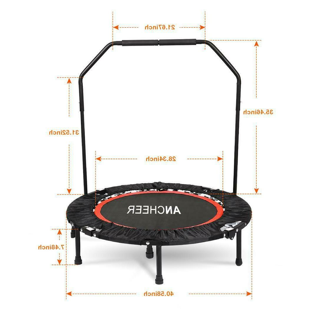 Ancheer Fitness Rebounder with Adjustable Handrail
