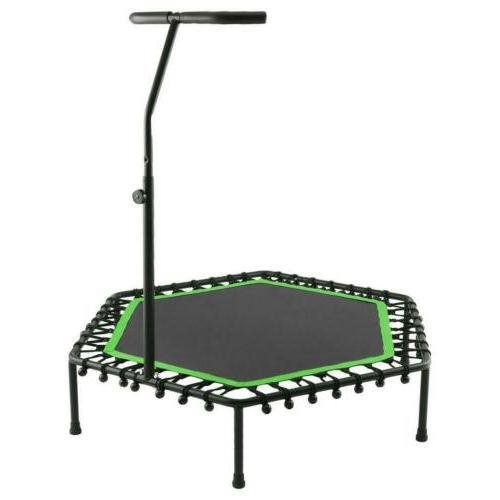 40 trampoline with adjustable handrail bouncing workout