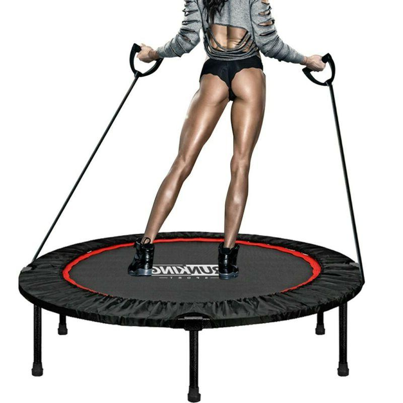 48in Folding Mini Fitness Trampoline Exercise Workout Indoor