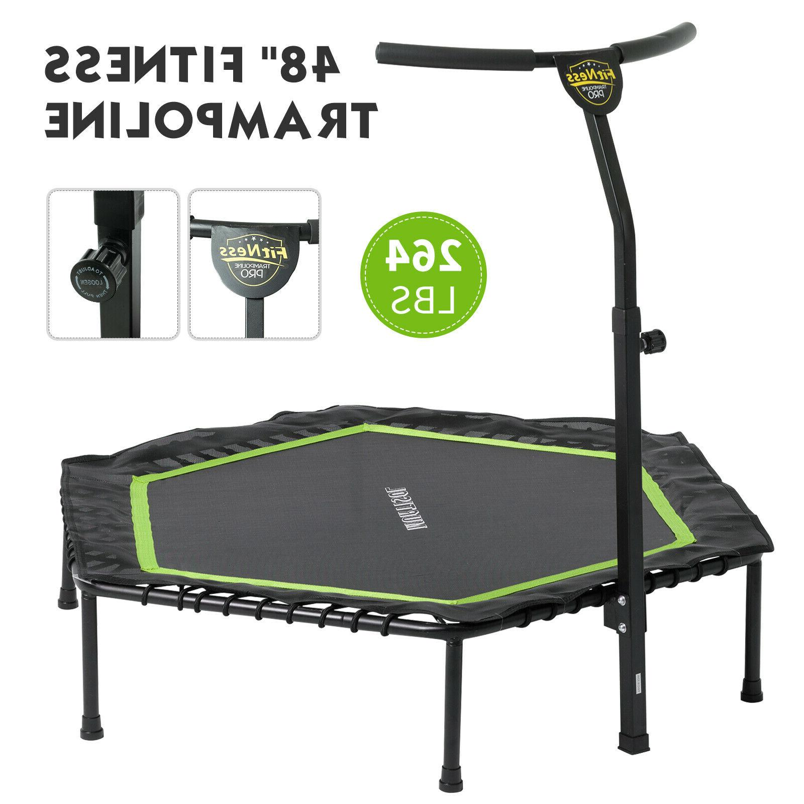 48ft foldable mini fitness trampoline rebounder workout