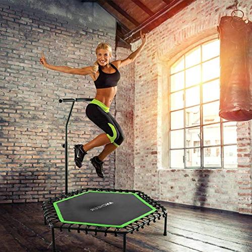 ANCHEER with Adjustable Handrail, Bar Band Rebounder Fitness Trainer Home Gym or