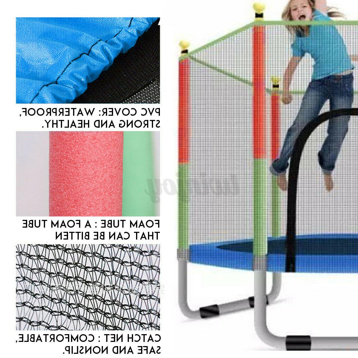 "55"" Mini Trampoline Exercise Jumping Safety Pad Enclosure"