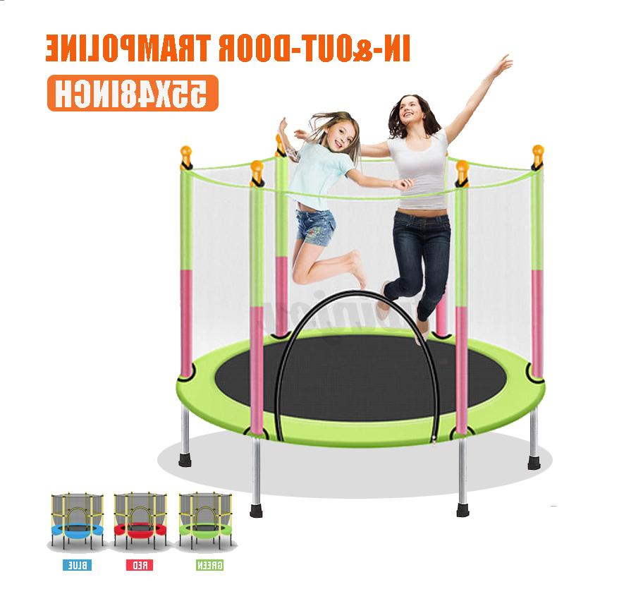 55 kids mini round trampoline exercise jumping