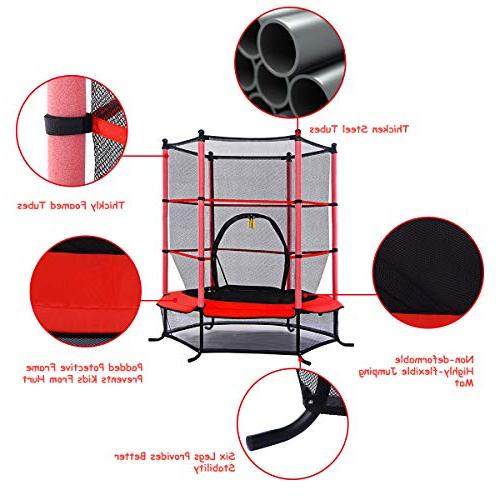 Mini Jumping Trampoline W/Safety Pad