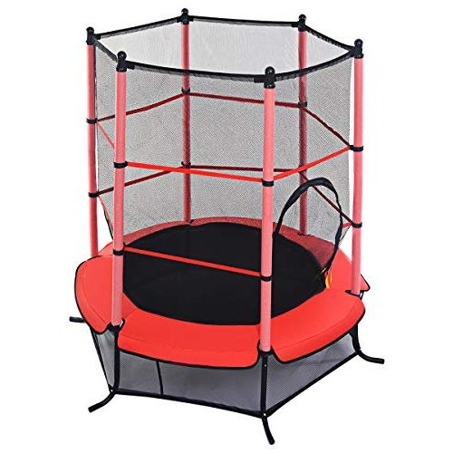"Giantex 55"" Round Mini Jumping Pad Enclosure Combo"