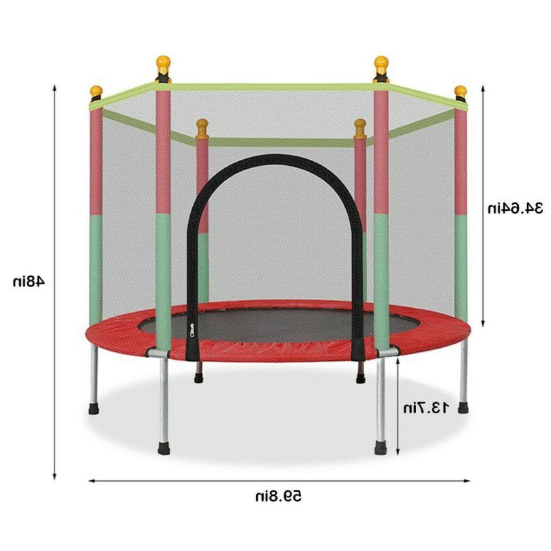 5FT Trampoline W/ Enclosure Jumping Mat And Spring Cover
