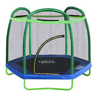 Clevr 7ft Net Trampoline with Safety Enclosure Bounce Jump S