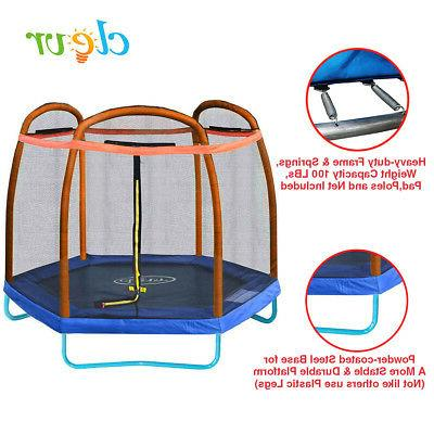 7 ft trampoline bounce jump safety enclosure