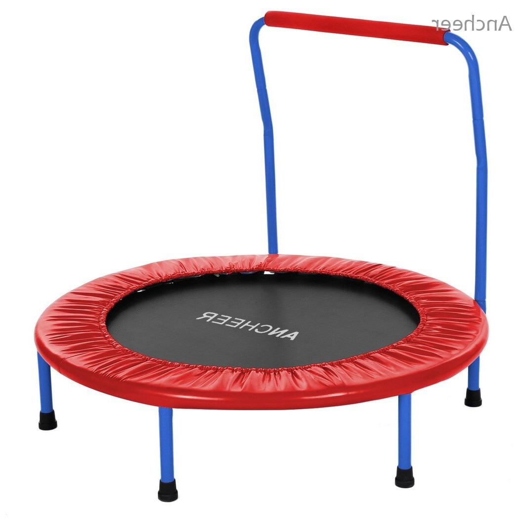 ANCHEEER Children Durable <font><b>Trampoline</b></font> with Padded Cover Handle
