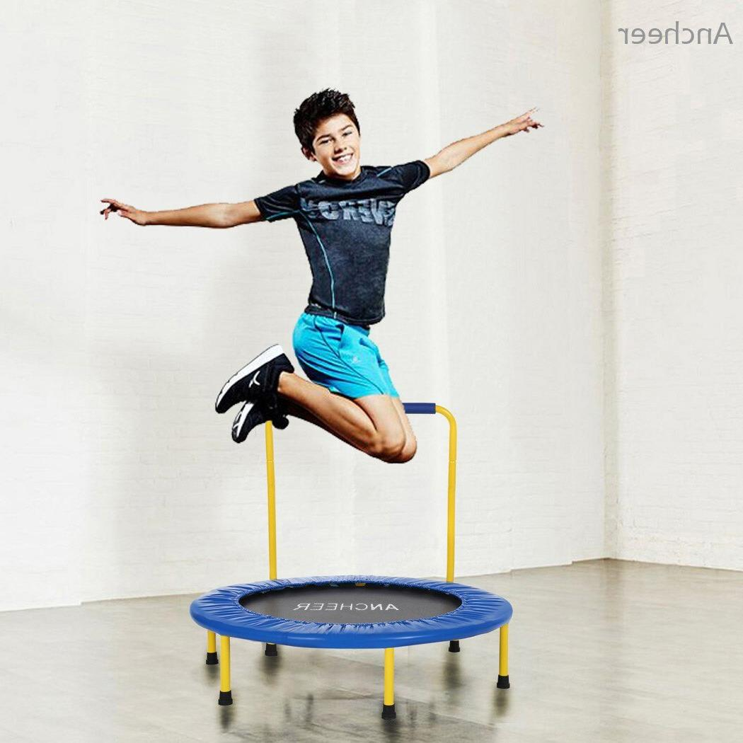 ANCHEEER new <font><b>Trampoline</b></font> Children Durable Safe with Padded Handle