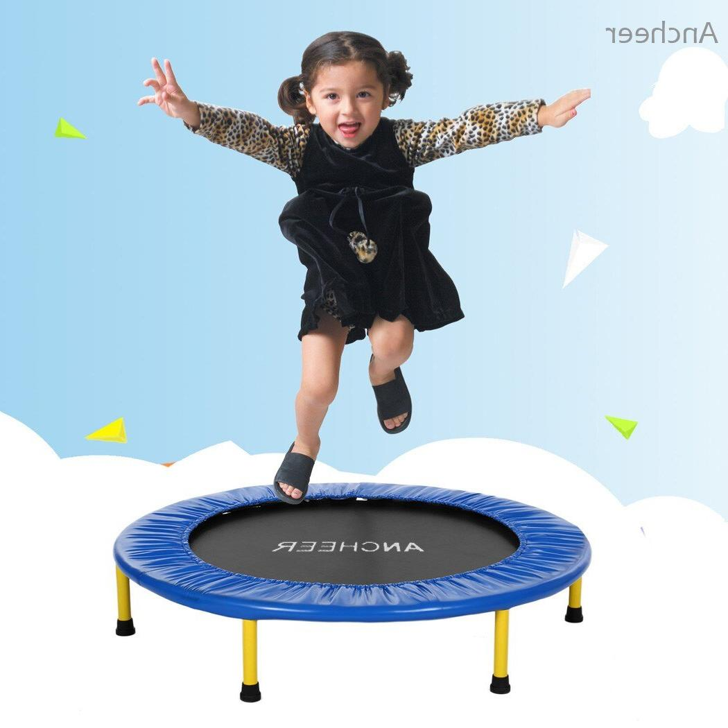 ANCHEEER new Set Children Durable Construction <font><b>Trampoline</b></font> with Frame Handle