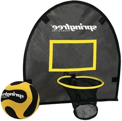 basketball hoop game trampoline attachment accessory outdoor