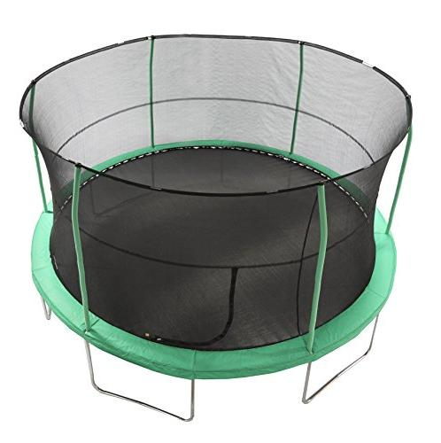 JumpKing 15' Bounce Dunk Trampoline Combo with Green