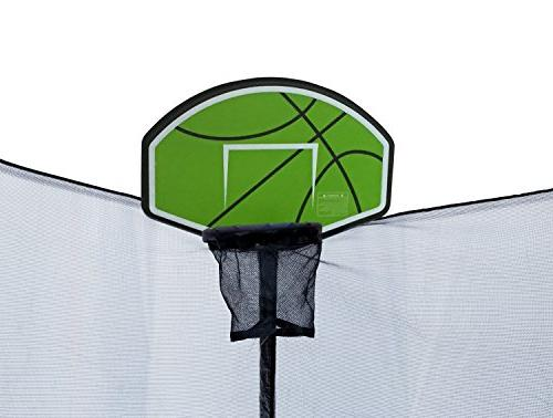 Exacme Fibre 15' Round Legs w/Enclosure Net & Safety & & Basketball Hoop Green L015