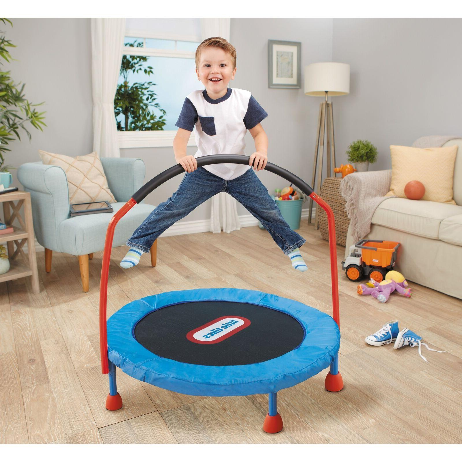 Little Tikes Easy Store 3-Foot Trampoline, with Foam Hand Ra